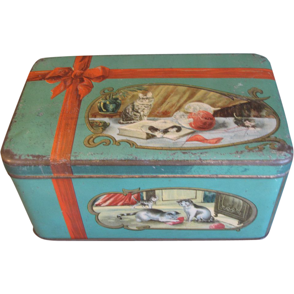 Vintage Biscuit Tin, Adorable Kittens, Numan's Holland