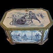 Circa 1910 Huntley & Palmers Biscuit Tin, Delft