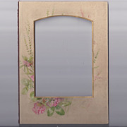 Small Floral Photo Mat from Victorian Album, Cabinet Photo