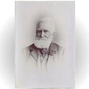 Cabinet Photograph Card, Elderly Gentle, Great Beard