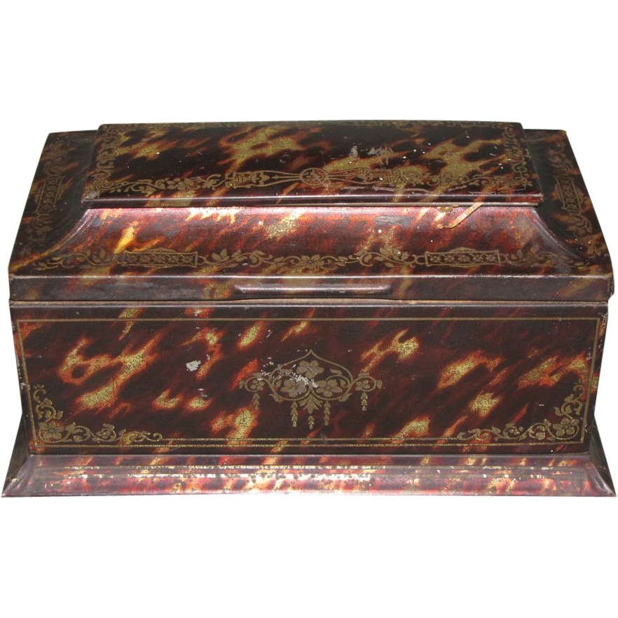 Circa 1910 British Biscuit Tin, Crawfords, TORTOISESHELL