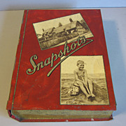 Vintage European Biscuit Tin, Book Shaped, SNAPSHOTS