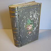 Unusual Vintage Book Biscuit Tin, Unmarked