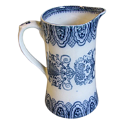 Lovely Flow Blue Milk Pitcher BURMESE Cetem Ware, ca 1908