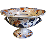 Early 1800's Center Pedestal Bowl, English, Imari Colors