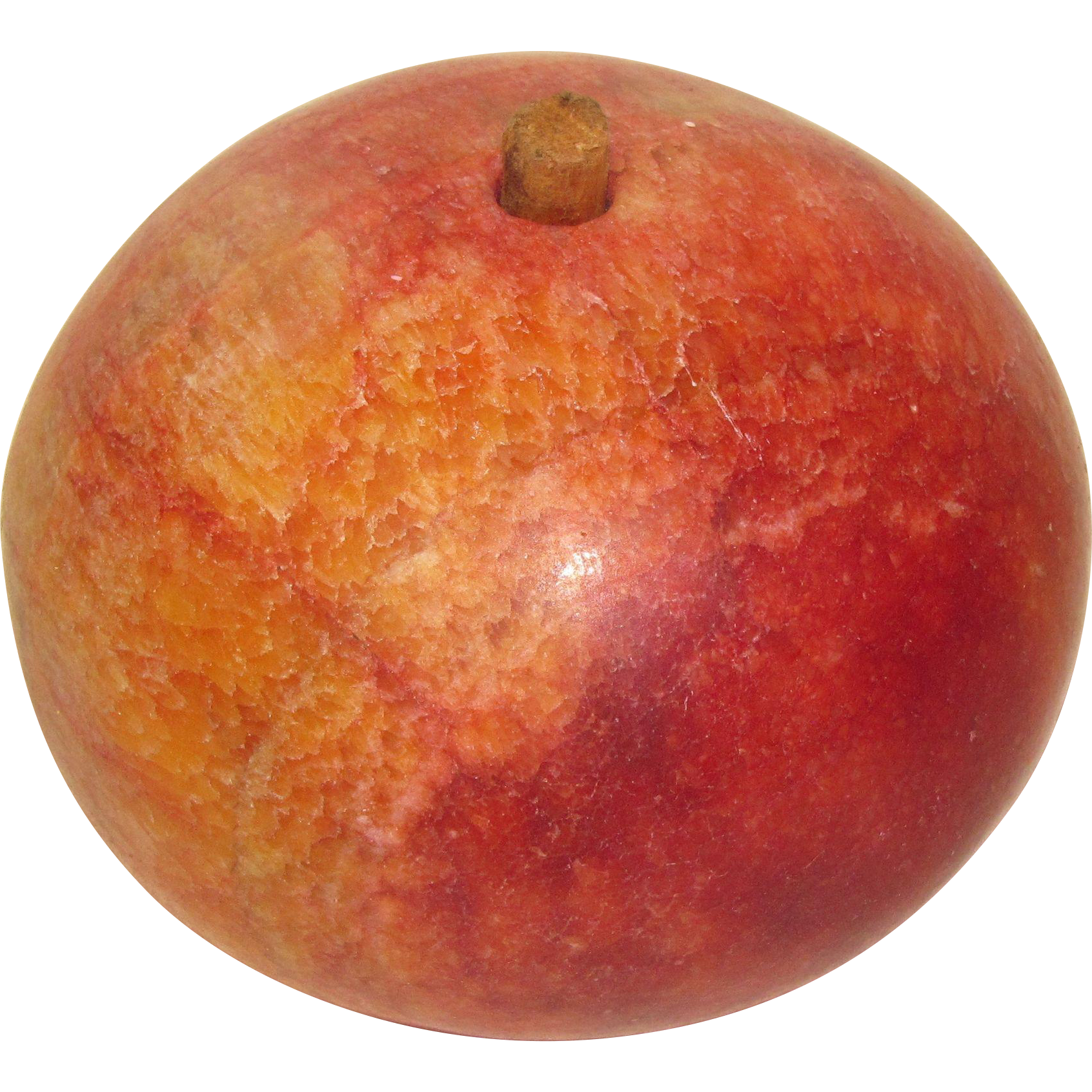 Vintage Piece of Fruit (TOMATO) Mexican Polished Alabaster