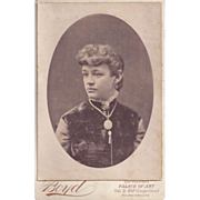 Cabinet Photograph of Young Woman