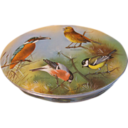 Lovely Vintage Oval Biscuit Tin, Birds