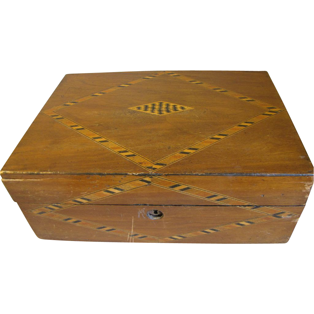 Lovely Antique Inlay British Box