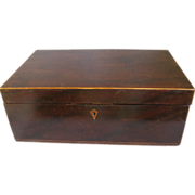 Lovely Large Early 19th Century Lap Desk Box, Rose Wood