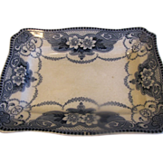 Lovely Flow Blue Platter, DOUGLAS, Ford & Sons, c. 1891