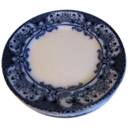 "Lovely Flow Blue 9"" Plate, 5 Available"