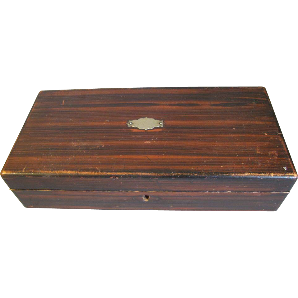 Vintage Man's Wood Glove/Tie/Handkerchief Box