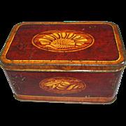 Lovely Vintage Faux Wood-Grain Tin, Mansion Polish