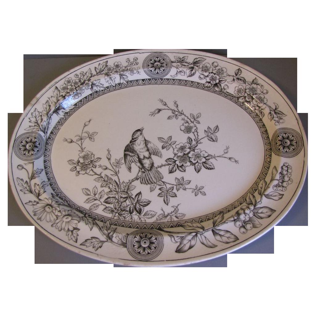 Circa 1886 Brown Transferware Platter, RICHMOND, T.G.&F.B.