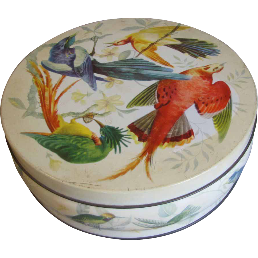 Lovely Huntley & Palmers Biscuit Tin, TROPICAL BIRDS