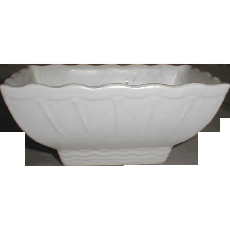 Lovely White Matte Pottery Planter McCoy USA