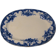 Circa 1894 Lovely Flow Blue Platter, VERSAILLES, Furnival
