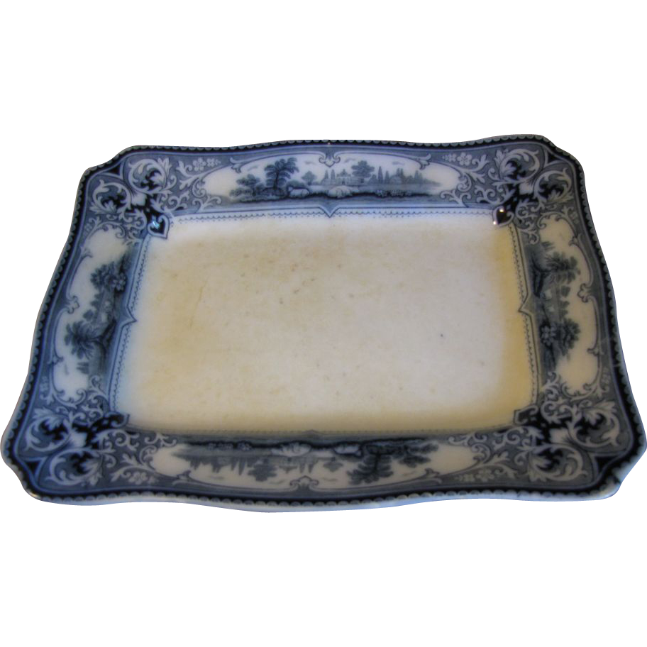 Lovely Flow Blue Platter VERONA Ford & Sons