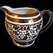 Vintage Gold Luster Milk Pitcher, Sadler, Made in England