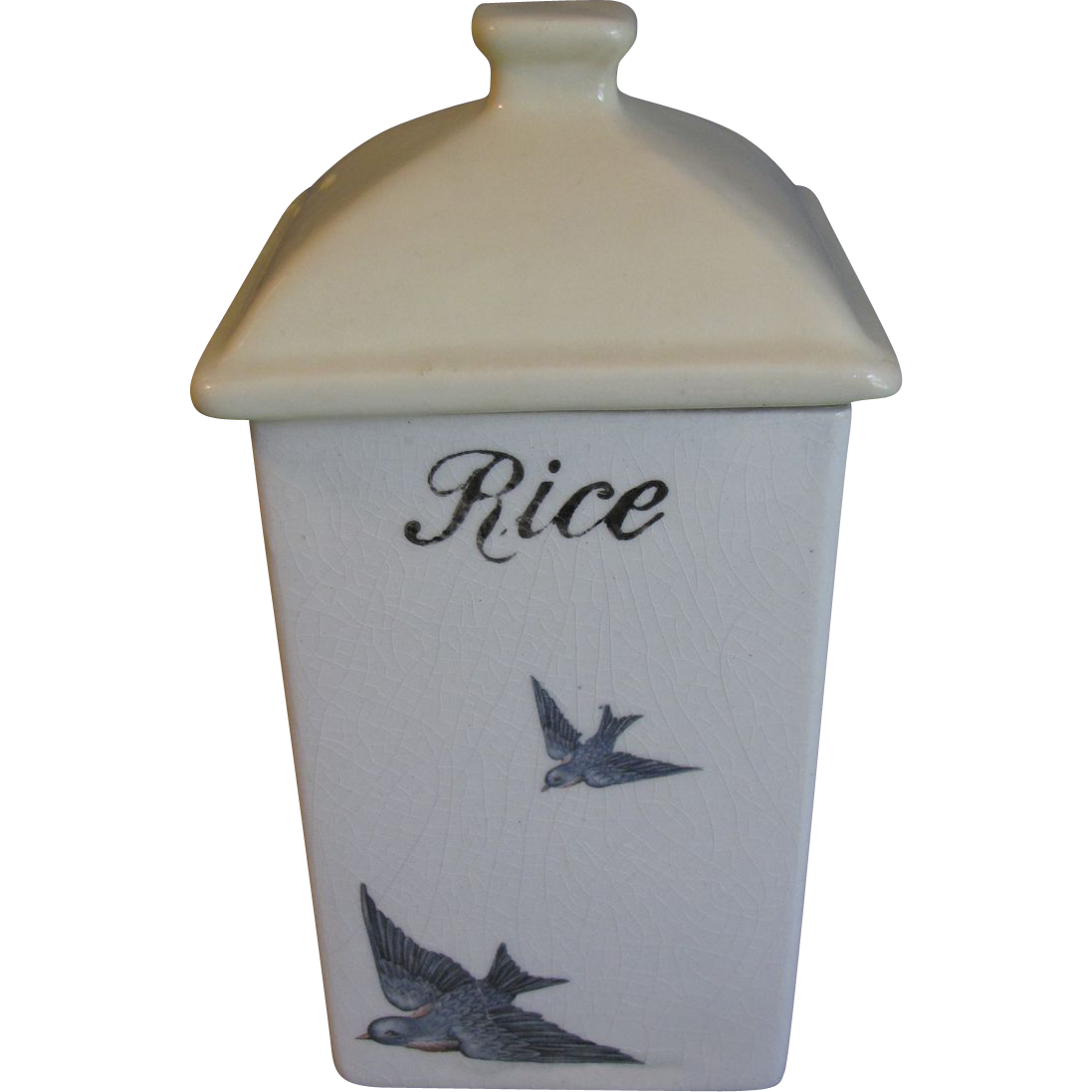 Very Collectible Blue Bird Canister, RICE