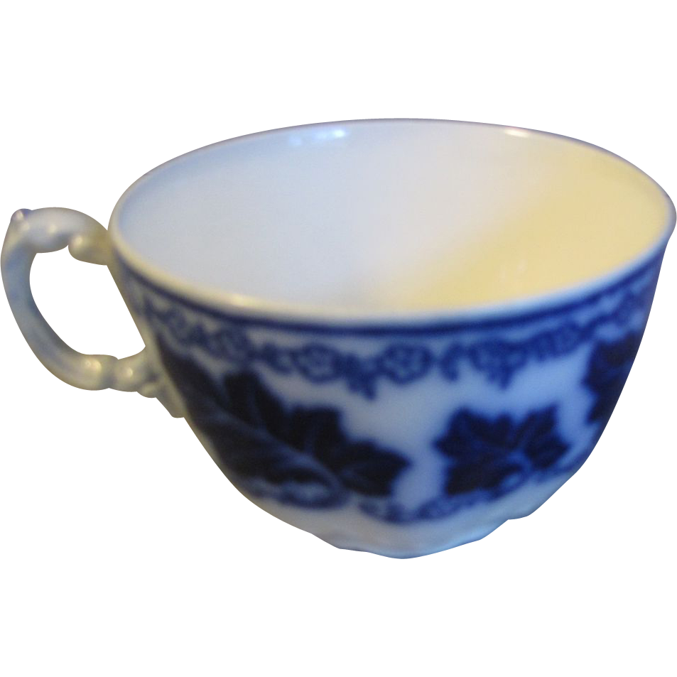 Lovely Flow Blue Teacup, NORMANDY, Johnson Bros.