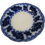 "Lovely 8 3/4"" Flow Blue Plate NORMANDY Johnson Bros."