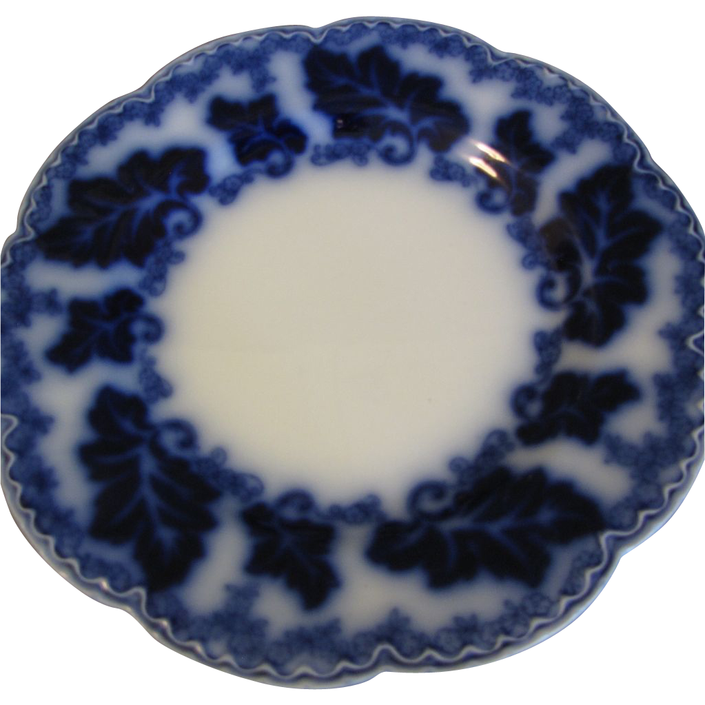 "Lovely 10"" Flow Blue Plate NORMANDY Johnson Bros."