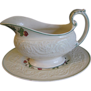 Vintage Wedgwood TAPESTRY Gravy Boat & Underplate