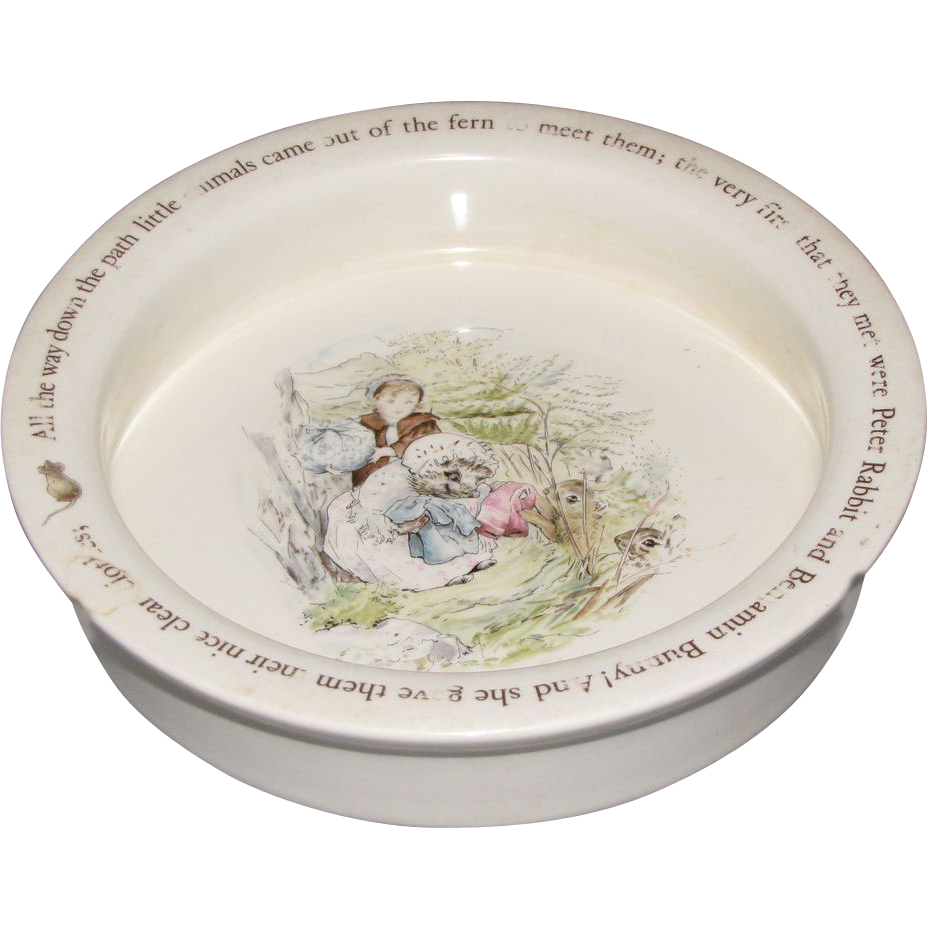 Vintage Wedgwood Beatrix Potter Baby Dish Mrs. Tiggy-Winkle  Judyu0027s Lovelies | Ruby Lane  sc 1 st  Ruby Lane & Vintage Wedgwood Beatrix Potter Baby Dish Mrs. Tiggy-Winkle : Judyu0027s ...