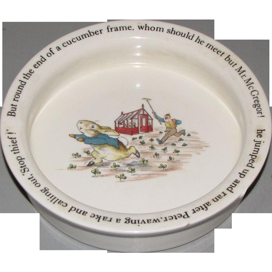 sc 1 st  Ruby Lane & Vintage Baby Dish Wedgwood PETER RABBIT : Judyu0027s Lovelies | Ruby Lane