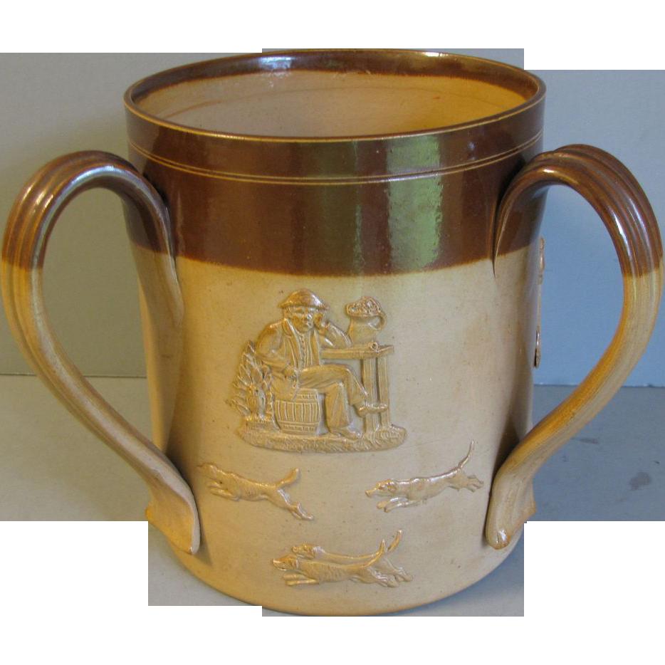 Antique Doulton Lambeth Salt-Glazed 3-Handled Mug