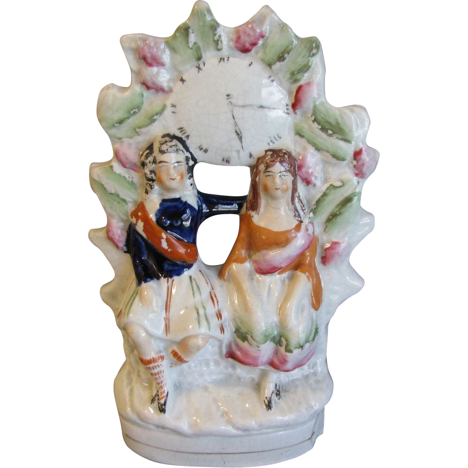 19th Century Staffordshire Flat-back Group Figure