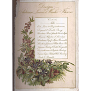 Cover Page From Victorian Photograph Album Autumn Leaves
