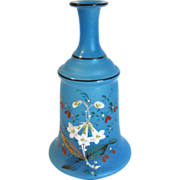 Small Blue Bristol Glass Perfume Decanter, Vase