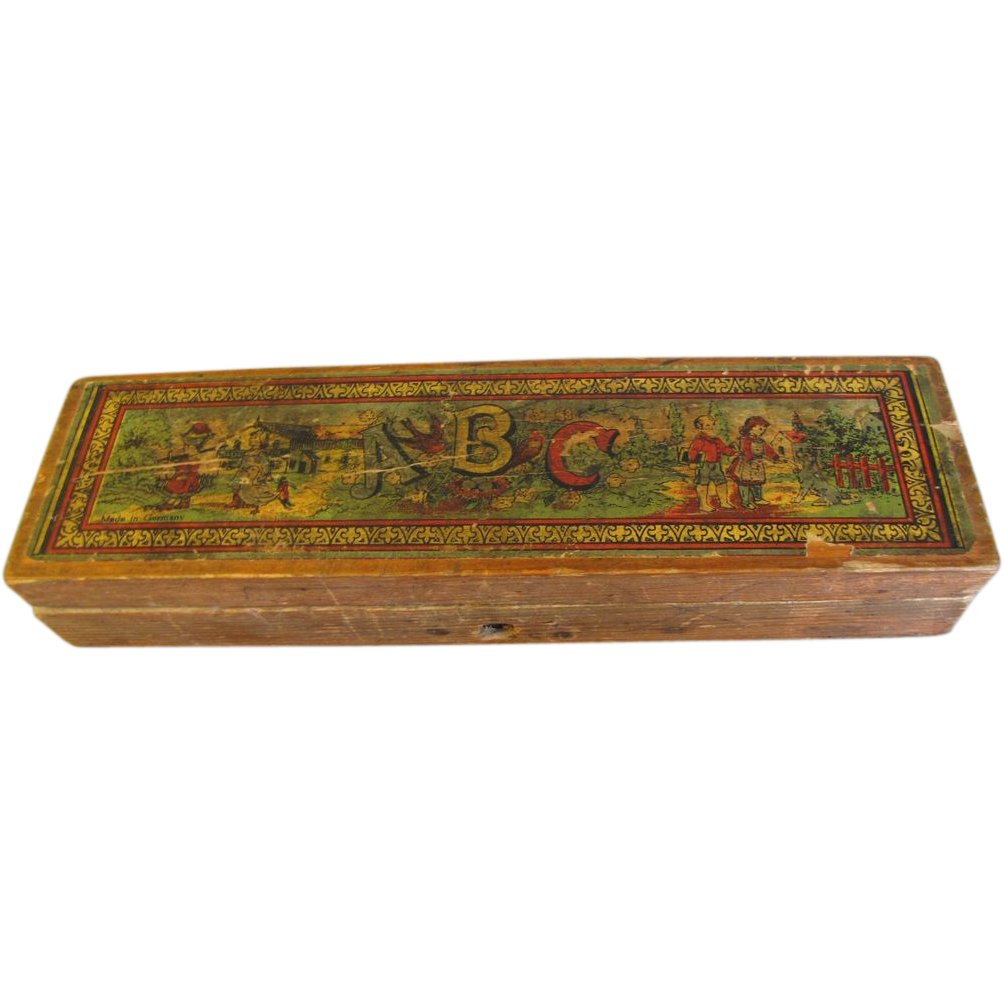 Delightful Well-Used School Pencil Box, Germany
