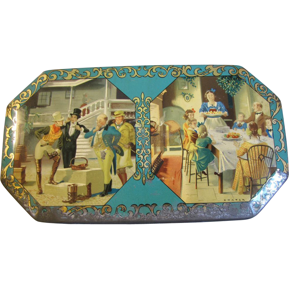 Vintage British Biscuit Tin, Carr & Co.,