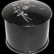 Lovely Victorian Papier Mache Powder Box w/MOP