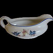 Vintage Illinois China Company Bluebird Gravy Boat
