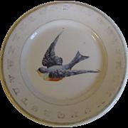 Vintage ABC Bluebird Child's Plate Hotel