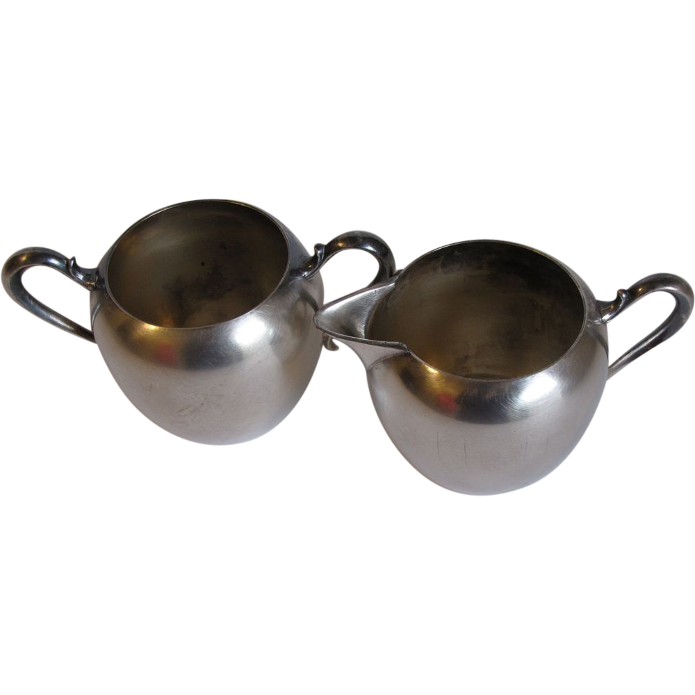 Vintage (1960's) Wallace Silver Plated Sugar & Cream Set