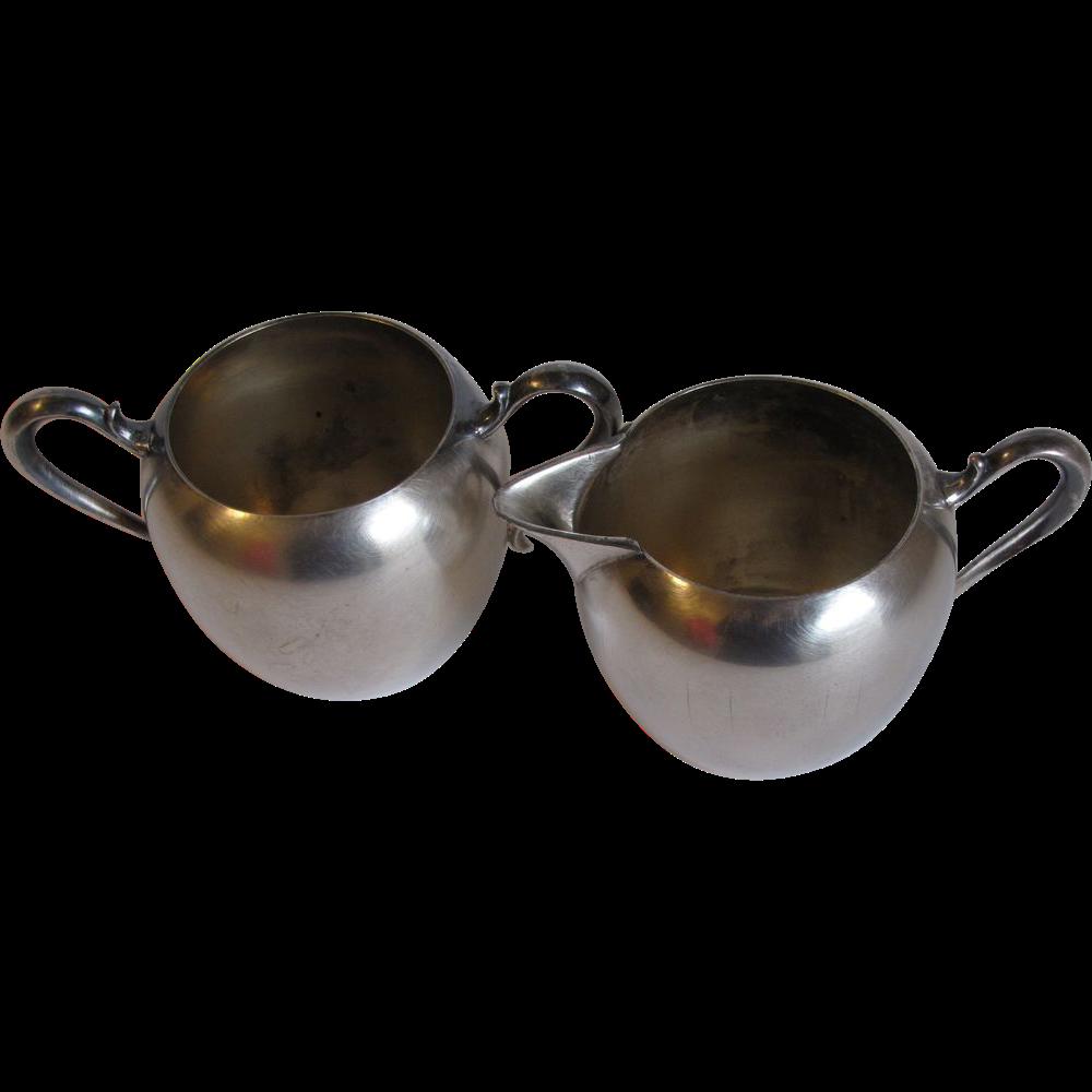 Vintage (1960's) Wallace Silver Plated Sugar & Cream Set