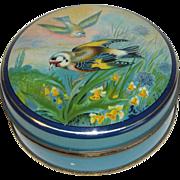 Vintage Small Toffee Tin Birds