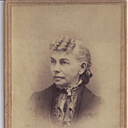 Cabinet Photograph of Woman, Unusual Hairstyle
