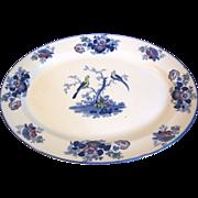 Vintage Oval Platter, Woods & Sons, ORIENTAL BIRDS