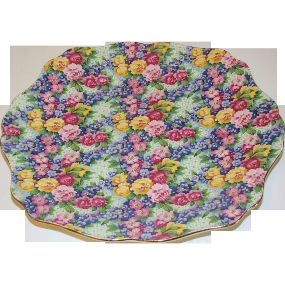 Lovely Royal Winton Chintz Plate, JULIA