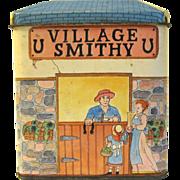 Vintage Biscuit Tin, Unmarked, VILLAGE SMITHY