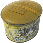 Vintage Gift Tin Advertising DOBBS Fine Hats Fifth Avenue New York