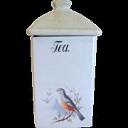 Vintage BLUEBIRD TEA Canister, A. E. Hull, 1920's