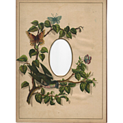 Lovely Chromolithograph Page from Victorian Photograph Album.